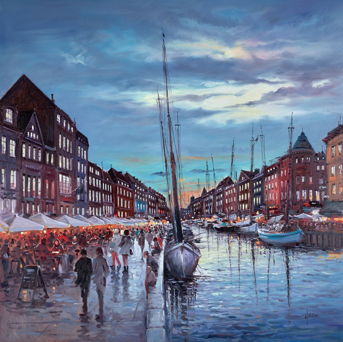 Copenhagen Canal, Demark by henderson cisz -  sized 40x40 inches. Available from Whitewall Galleries
